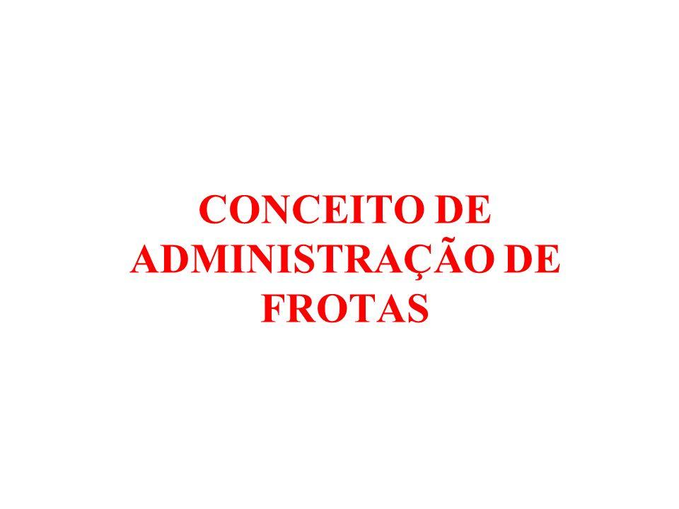 CONCEITO DE ADMINISTRAÇÃO DE FROTAS