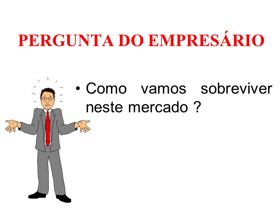 PERGUNTA DO EMPRESÁRIO