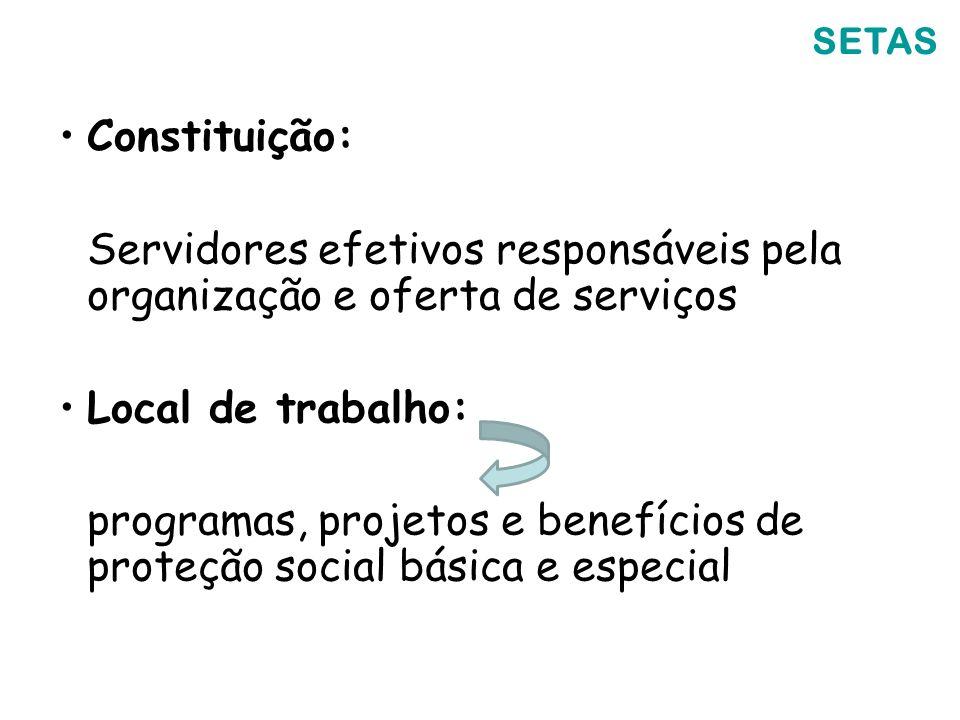 Servidores efetivos responsáveis pela organização e oferta de serviços