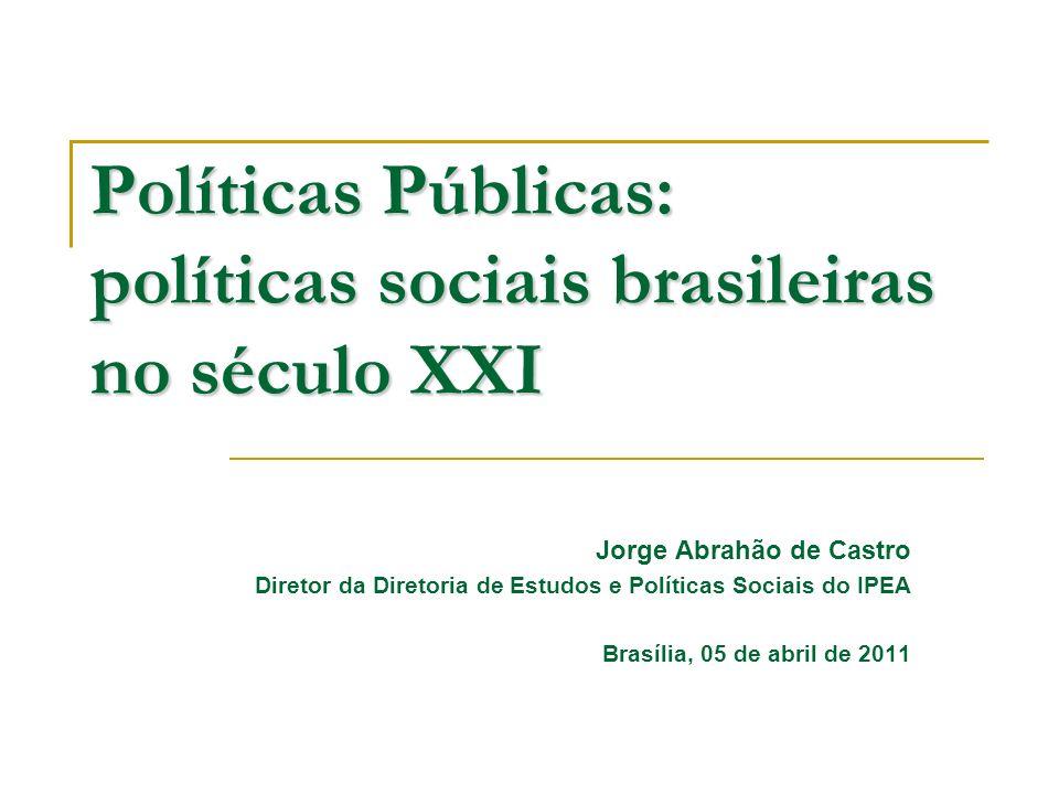 Políticas Públicas: políticas sociais brasileiras no século XXI