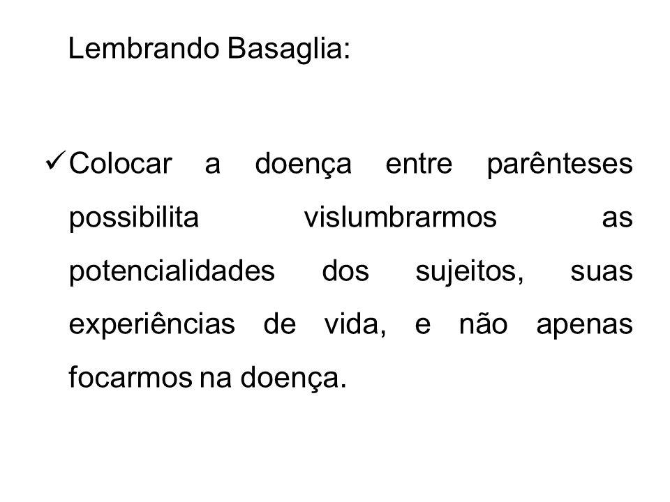 Lembrando Basaglia: