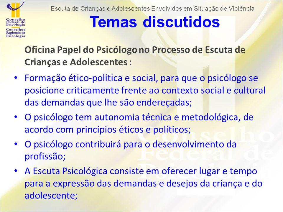 O psicólogo contribuirá para o desenvolvimento da profissão;