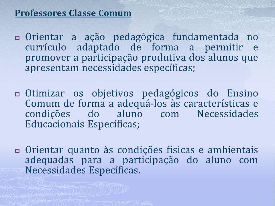 Professores Classe Comum