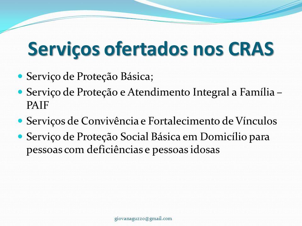 Serviços ofertados nos CRAS