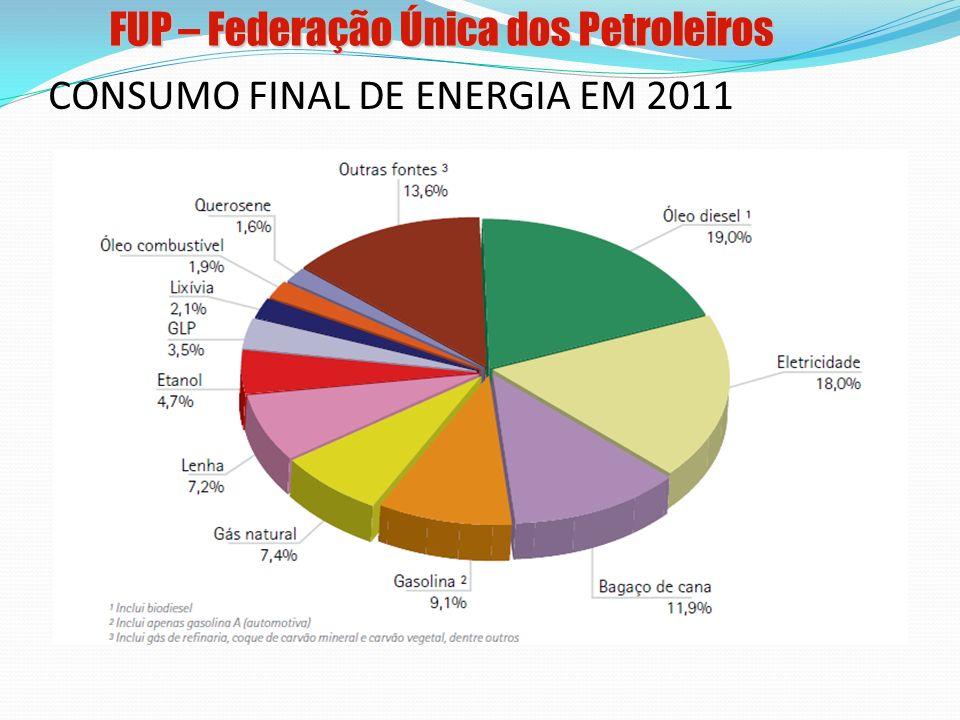 CONSUMO FINAL DE ENERGIA EM 2011