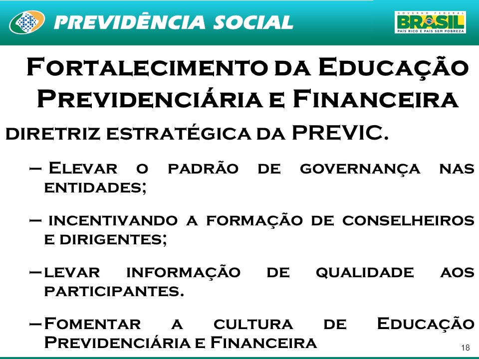 Fortalecimento da Educação Previdenciária e Financeira