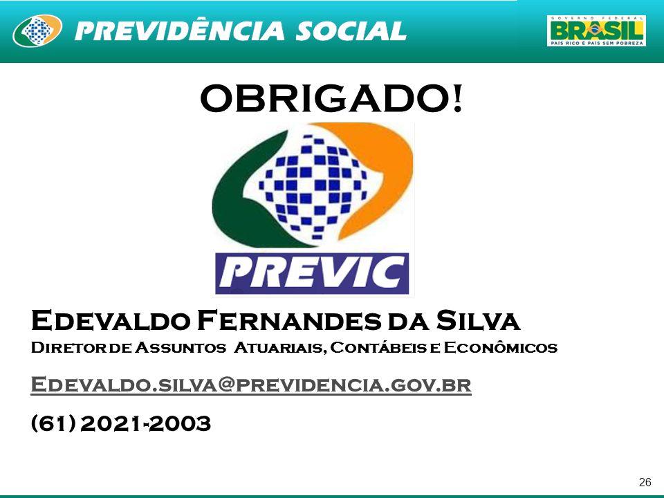 OBRIGADO! Edevaldo Fernandes da Silva