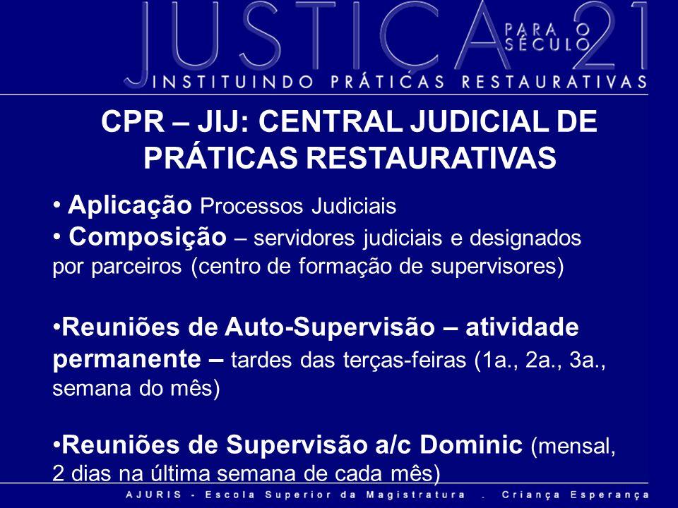 CPR – JIJ: CENTRAL JUDICIAL DE PRÁTICAS RESTAURATIVAS