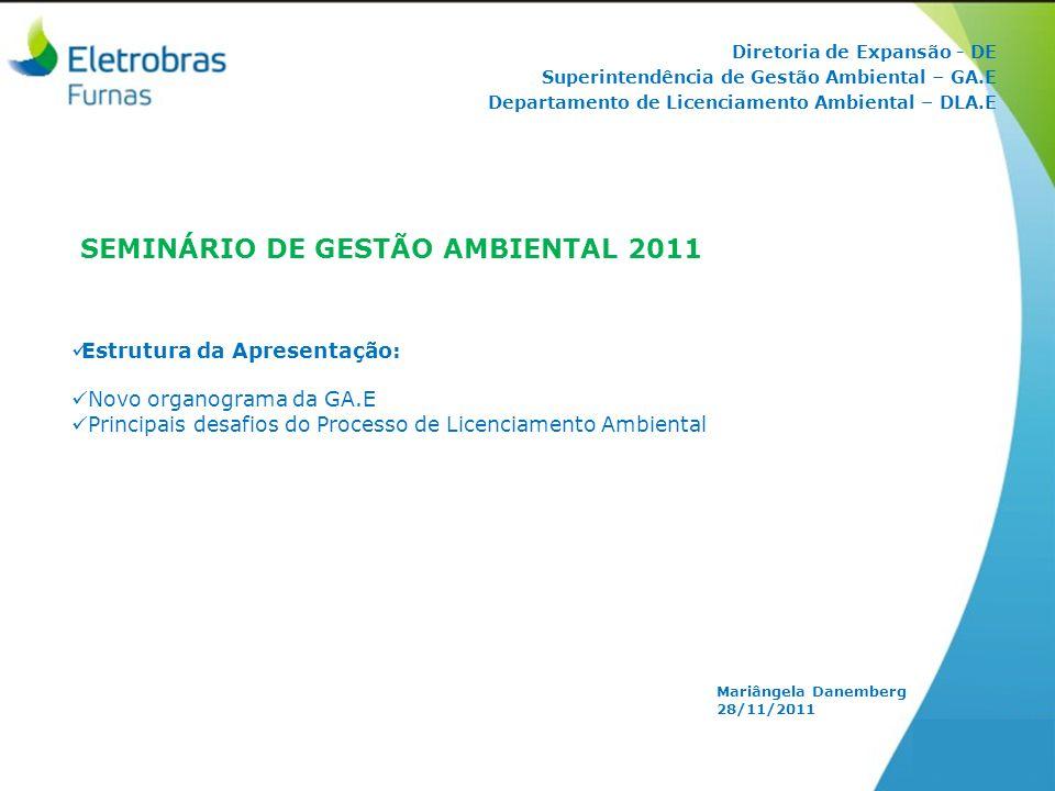 SEMINÁRIO DE GESTÃO AMBIENTAL 2011