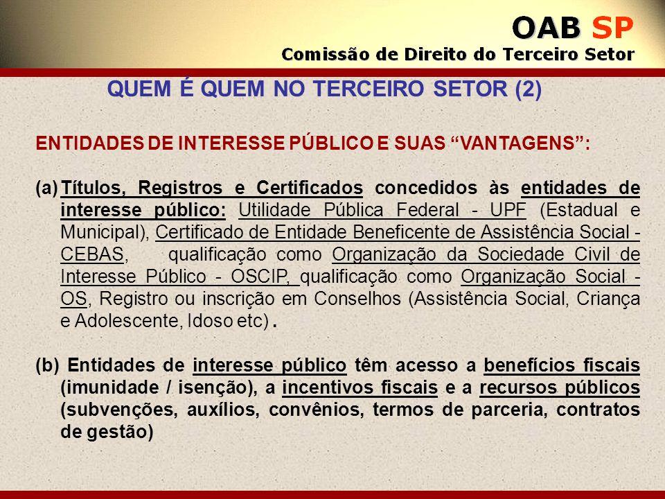 QUEM É QUEM NO TERCEIRO SETOR (2)