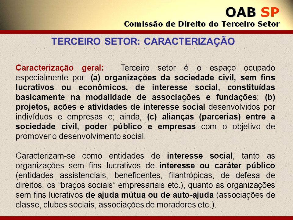 TERCEIRO SETOR: CARACTERIZAÇÃO