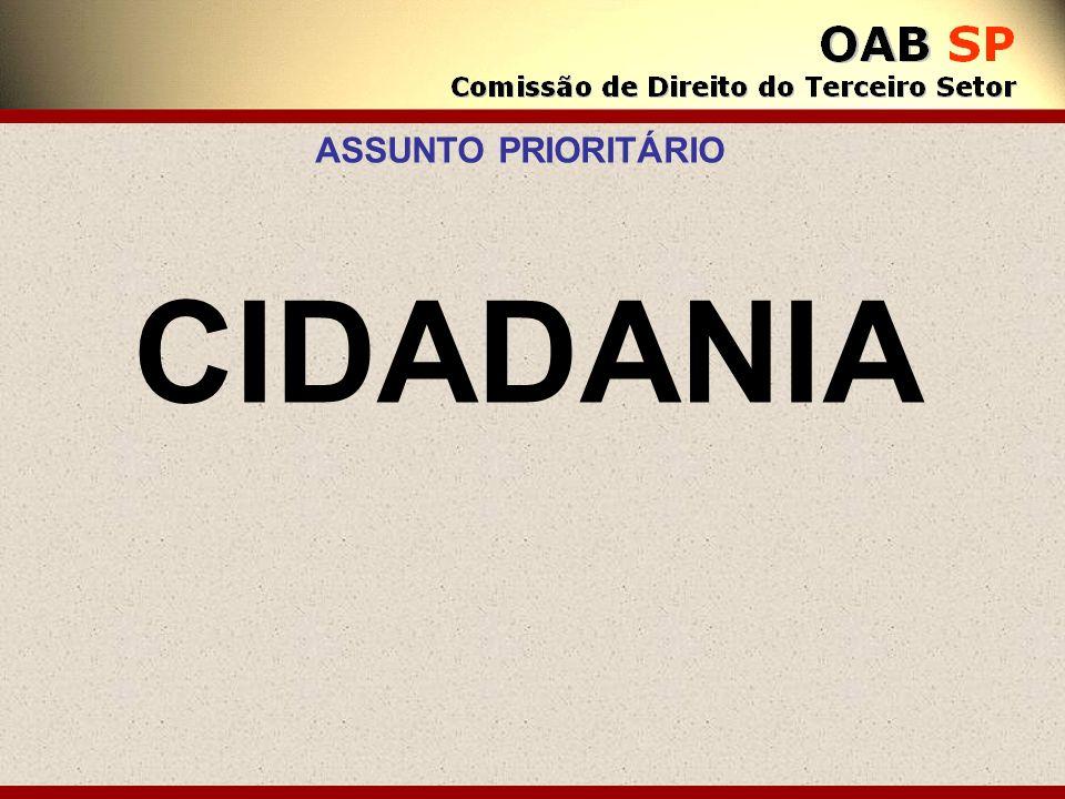 ASSUNTO PRIORITÁRIO CIDADANIA