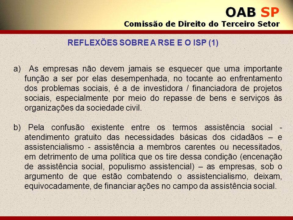 REFLEXÕES SOBRE A RSE E O ISP (1)