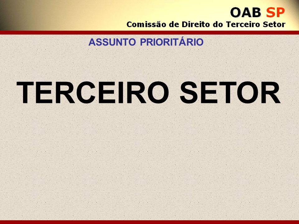 ASSUNTO PRIORITÁRIO TERCEIRO SETOR