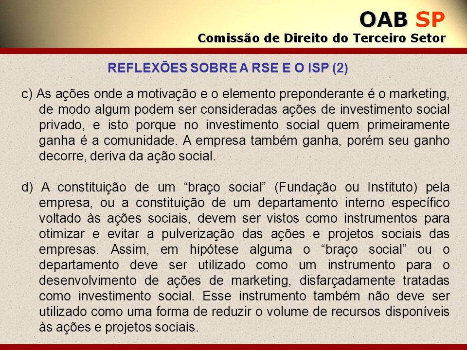 REFLEXÕES SOBRE A RSE E O ISP (2)