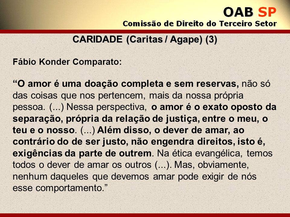 CARIDADE (Caritas / Agape) (3)