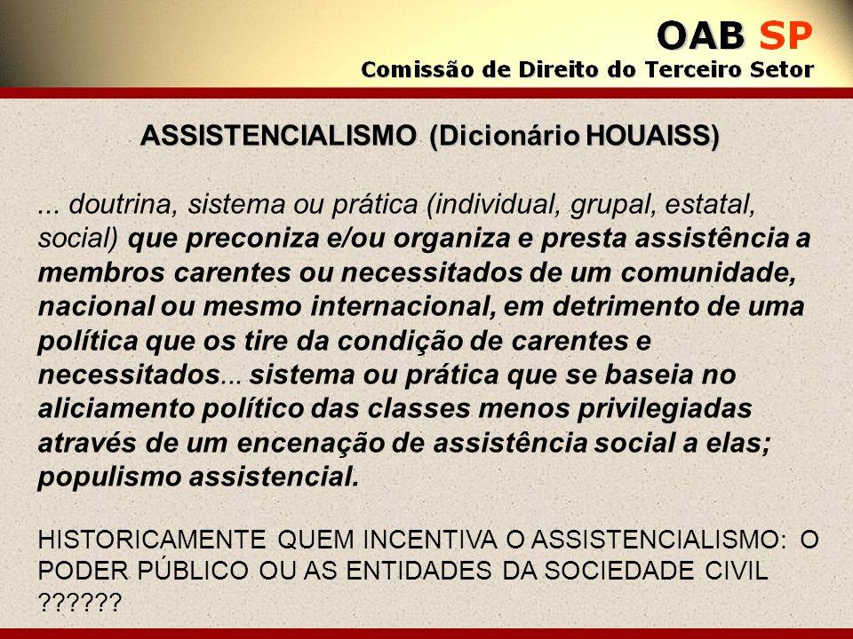 ASSISTENCIALISMO (Dicionário HOUAISS)