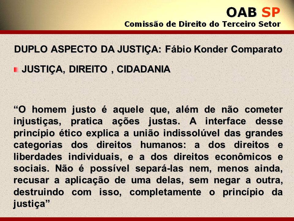 DUPLO ASPECTO DA JUSTIÇA: Fábio Konder Comparato
