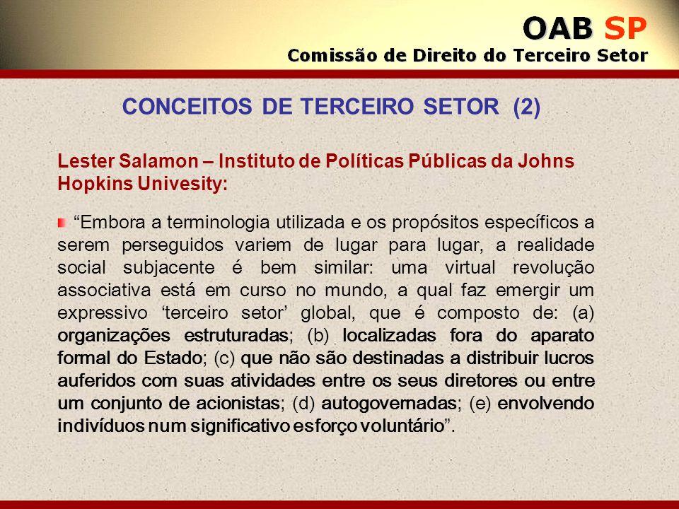 CONCEITOS DE TERCEIRO SETOR (2)