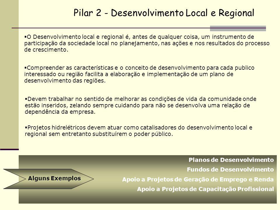 Pilar 2 - Desenvolvimento Local e Regional