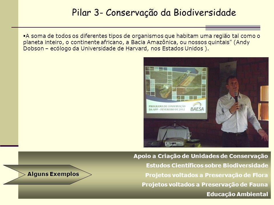 Pilar 3- Conservação da Biodiversidade