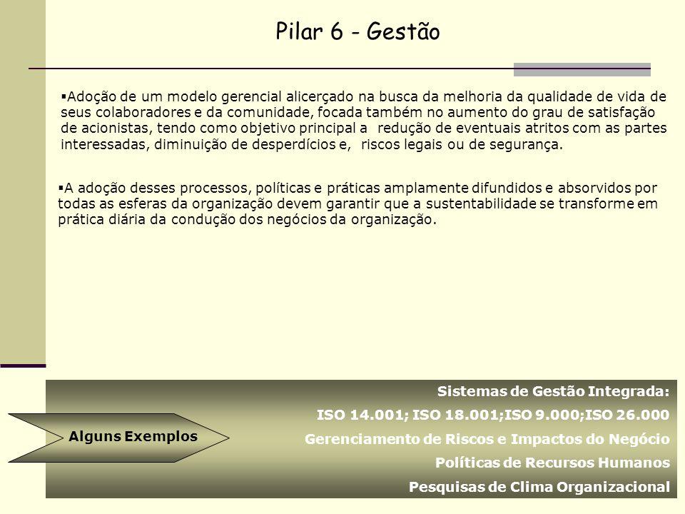 Pilar 6 - Gestão