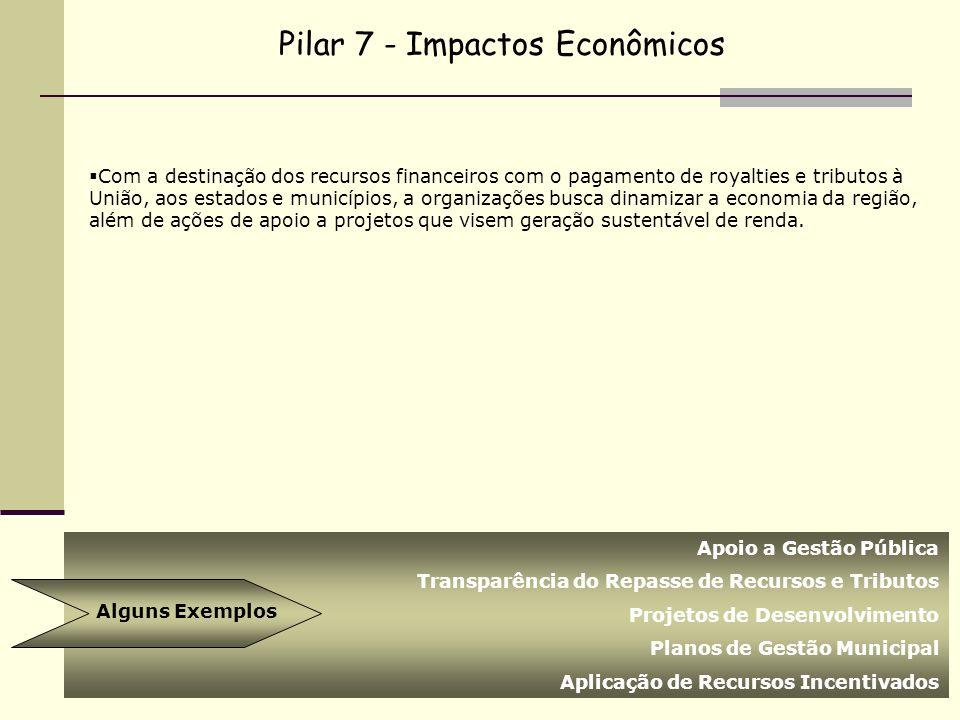 Pilar 7 - Impactos Econômicos