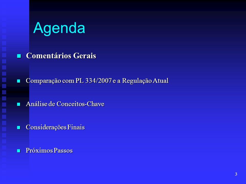 Agenda Comentários Gerais
