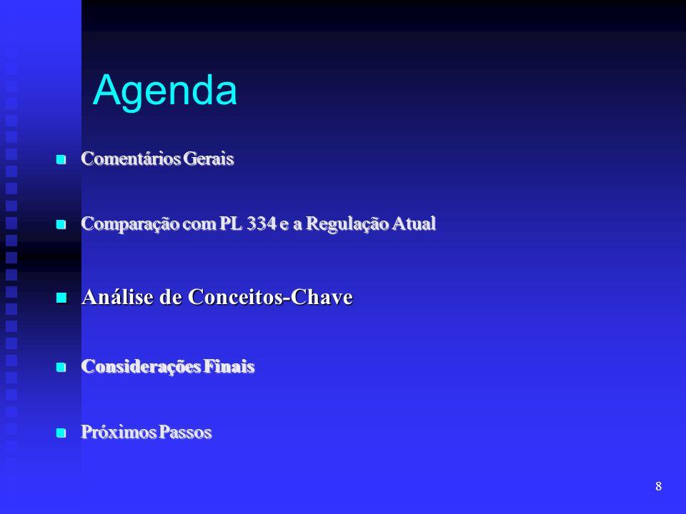 Agenda Análise de Conceitos-Chave Comentários Gerais
