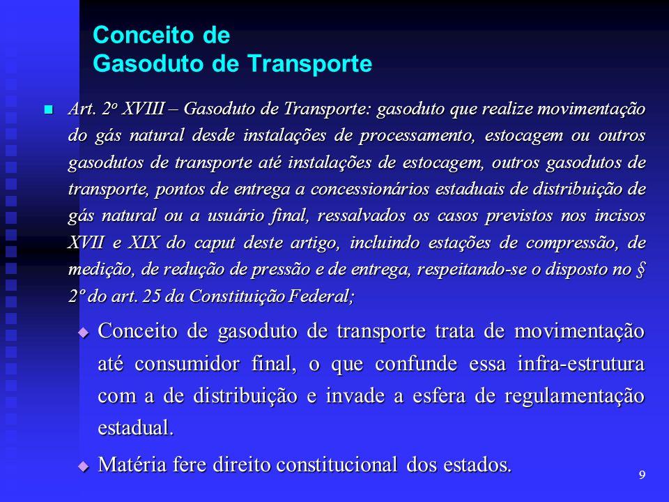Conceito de Gasoduto de Transporte