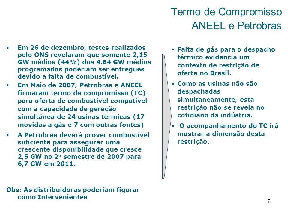 Termo de Compromisso ANEEL e Petrobras