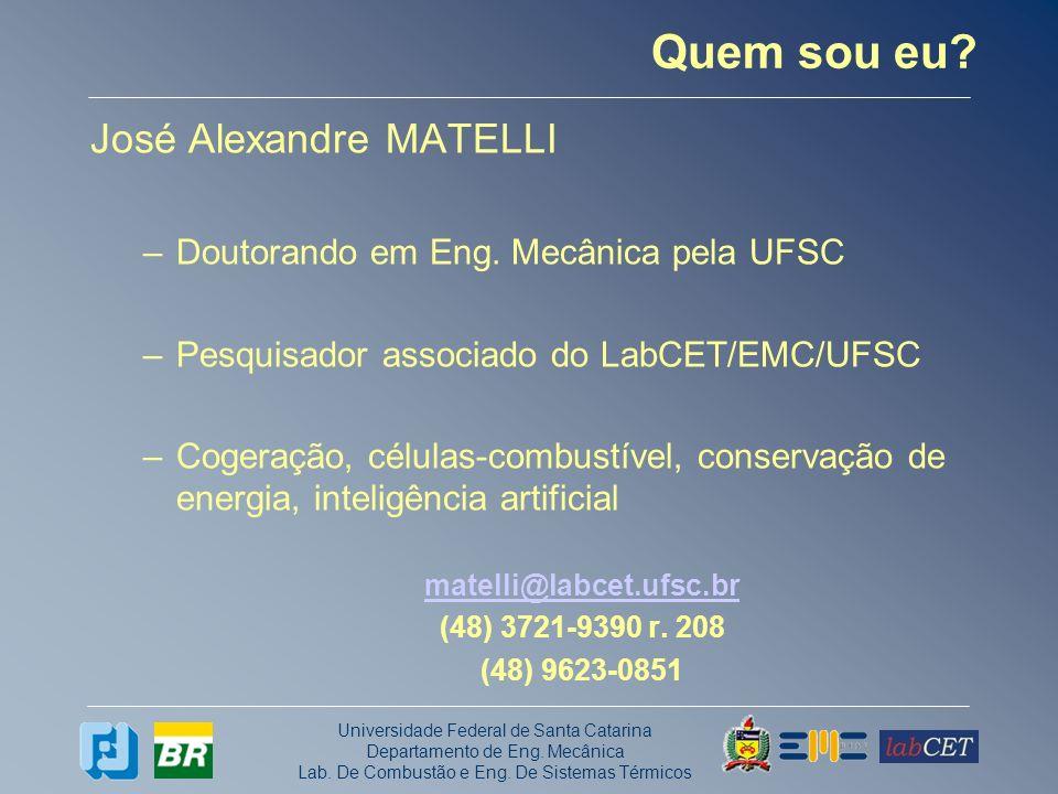Quem sou eu José Alexandre MATELLI