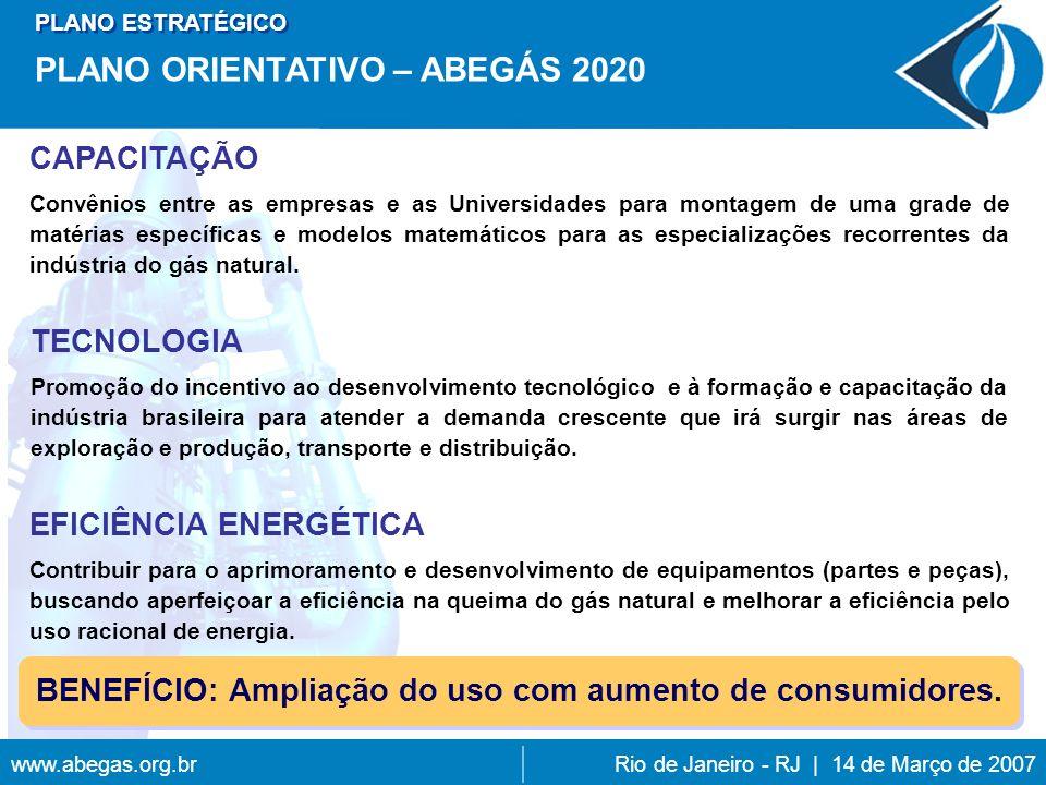 BENEFÍCIO: Ampliação do uso com aumento de consumidores.