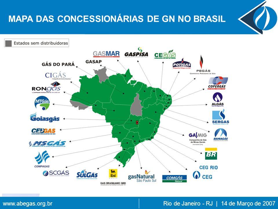 MAPA DAS CONCESSIONÁRIAS DE GN NO BRASIL