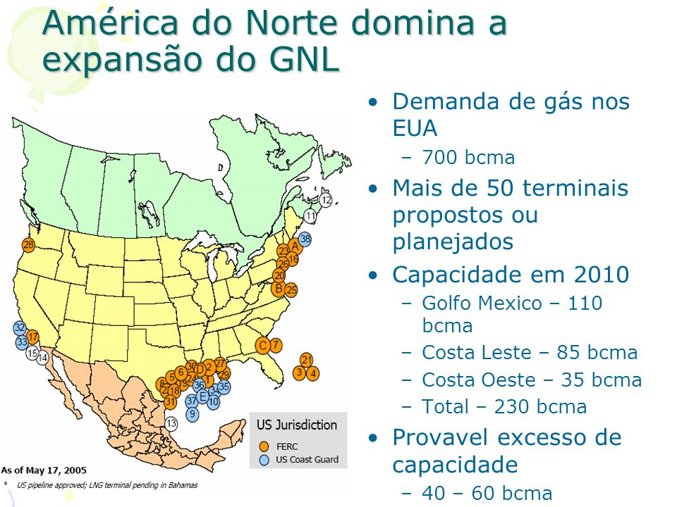 América do Norte domina a expansão do GNL