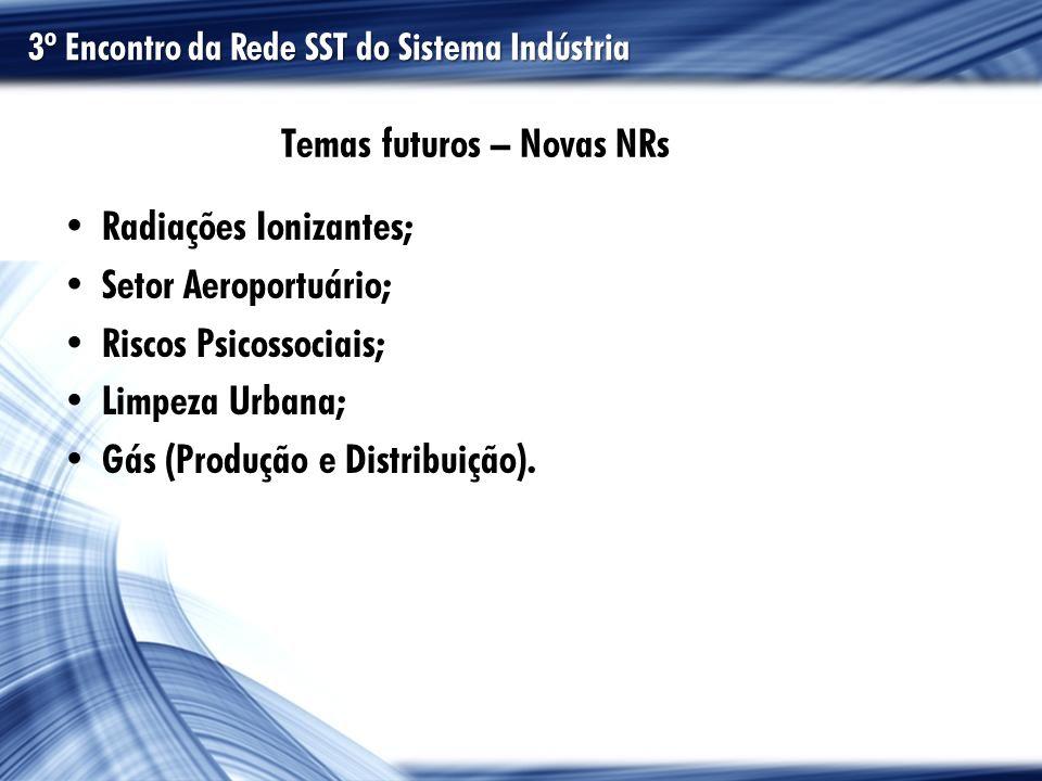 Temas futuros – Novas NRs