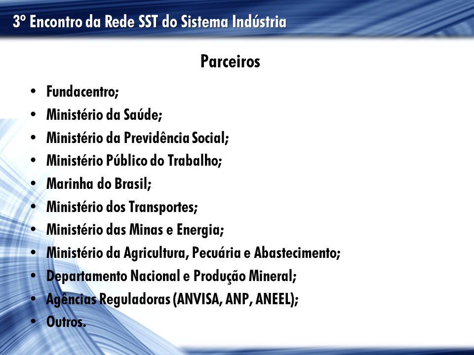 Parceiros 3º Encontro da Rede SST do Sistema Indústria Fundacentro;