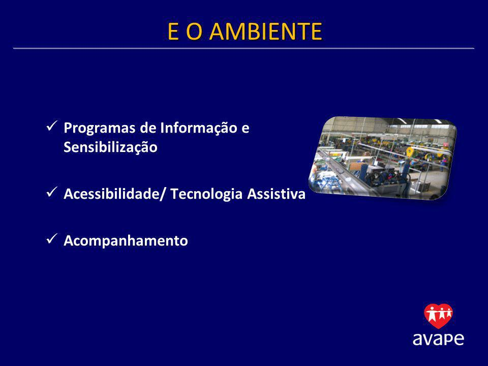 E O AMBIENTE Programas de Informação e Sensibilização