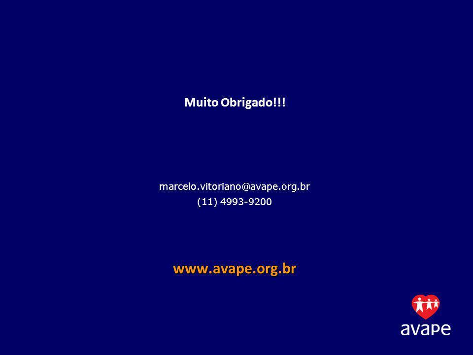 Muito Obrigado. marcelo. vitoriano@avape. org. br (11) 4993-9200 www