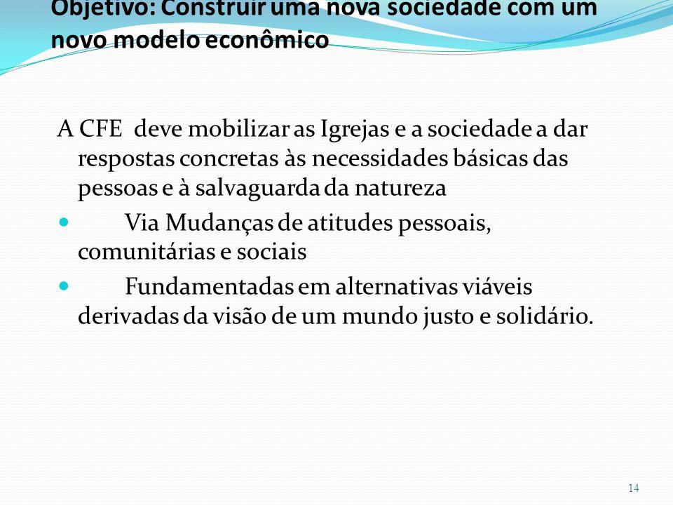 Objetivo: Construir uma nova sociedade com um novo modelo econômico