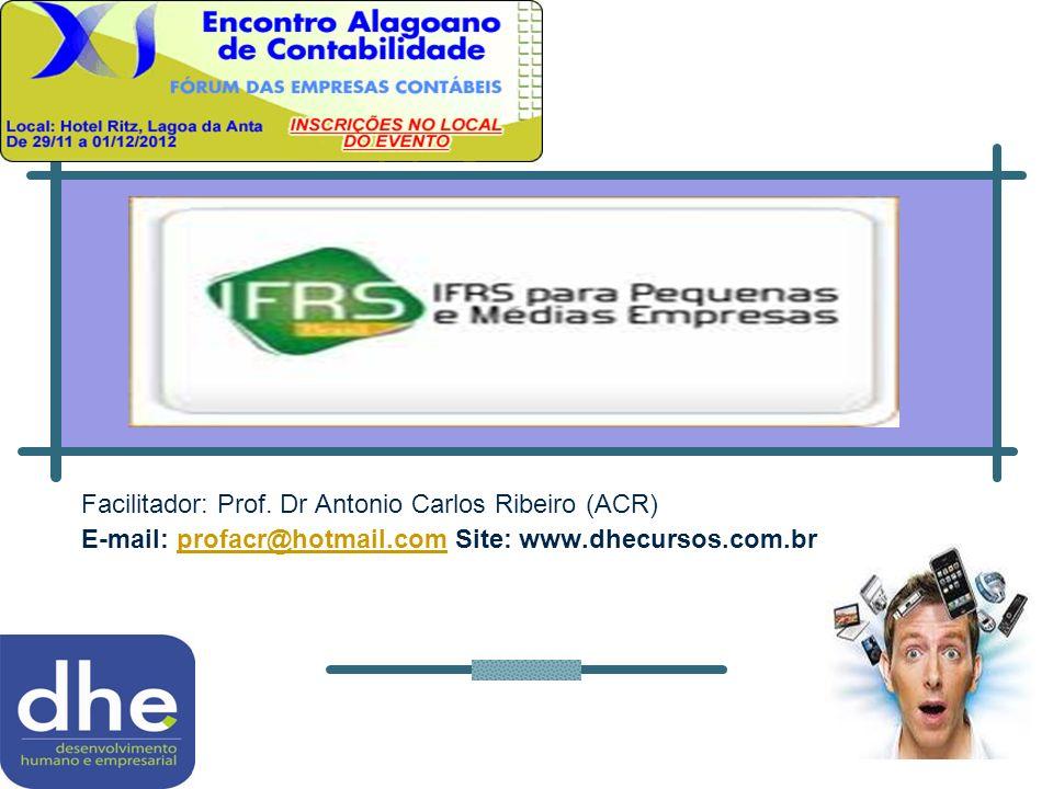 Facilitador: Prof. Dr Antonio Carlos Ribeiro (ACR)