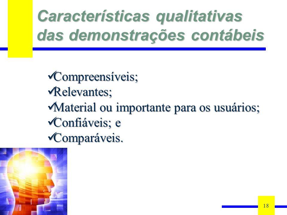 Características qualitativas das demonstrações contábeis