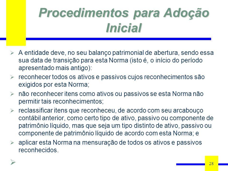 Procedimentos para Adoção Inicial