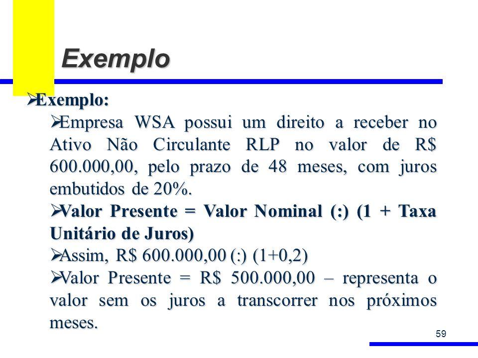Exemplo Exemplo: