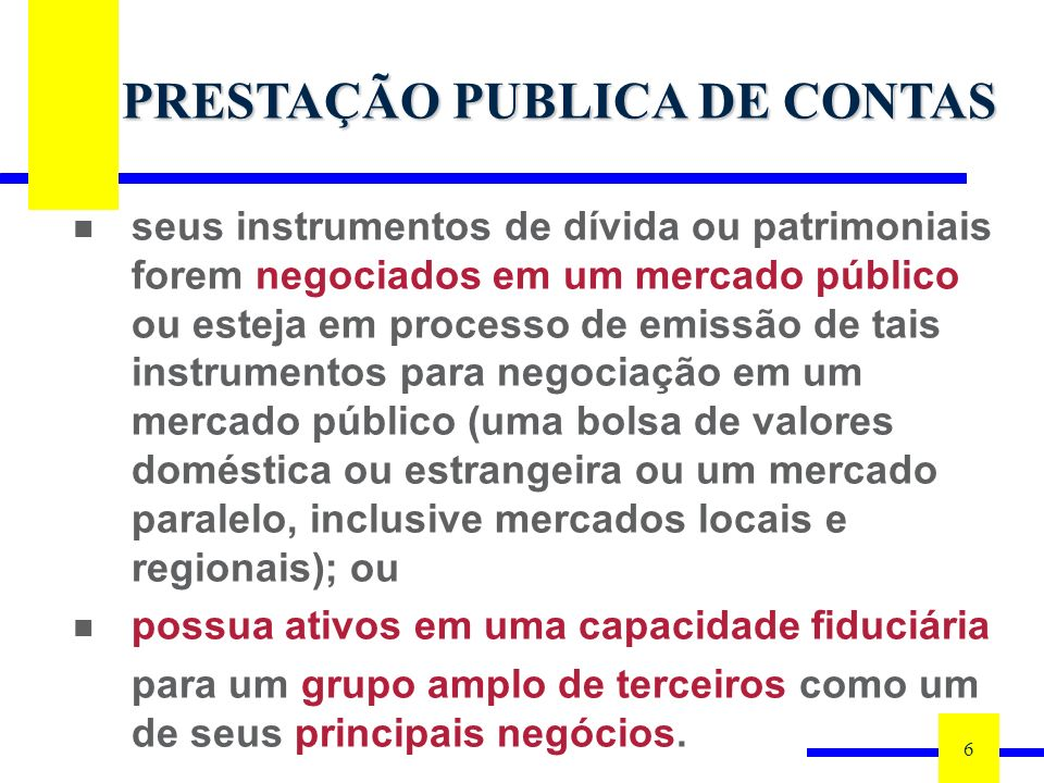 PRESTAÇÃO PUBLICA DE CONTAS
