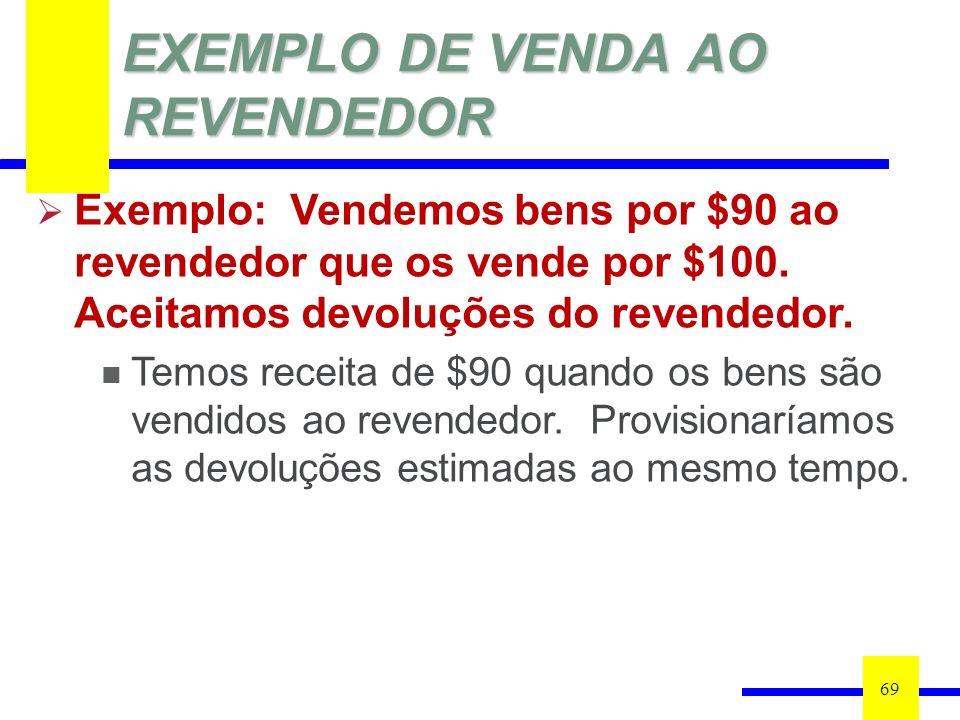 EXEMPLO DE VENDA AO REVENDEDOR