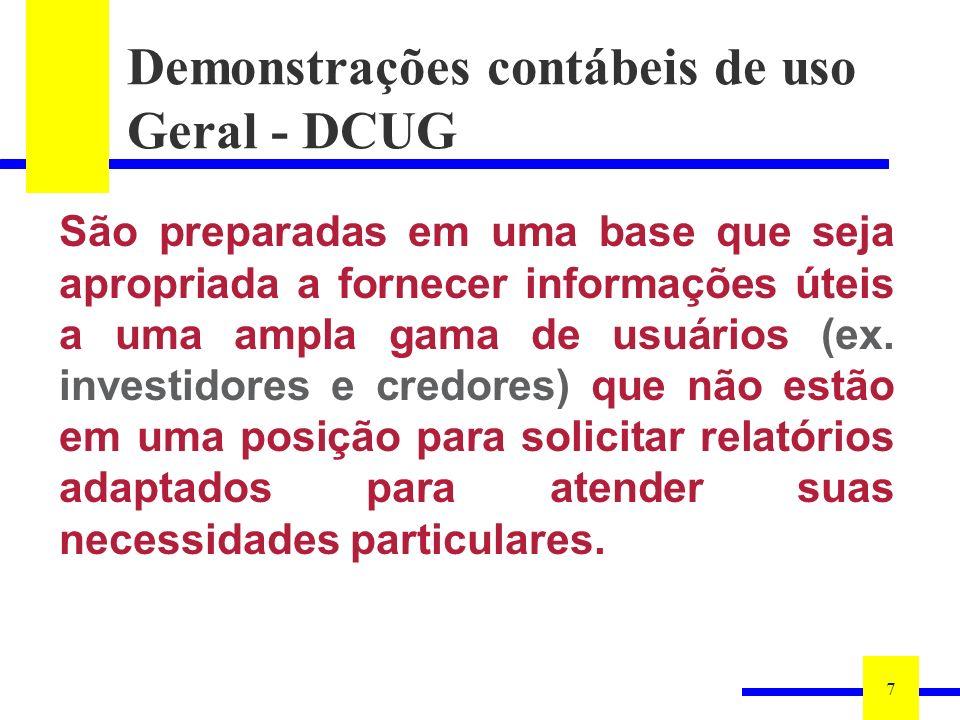 Demonstrações contábeis de uso Geral - DCUG