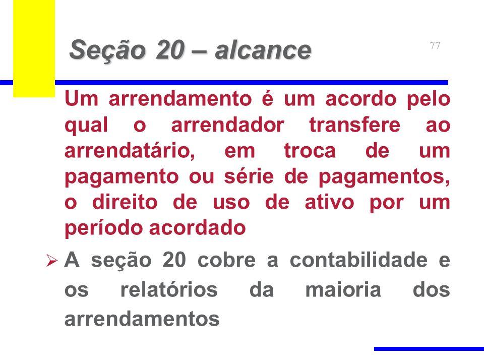 Seção 20 – alcance 77.
