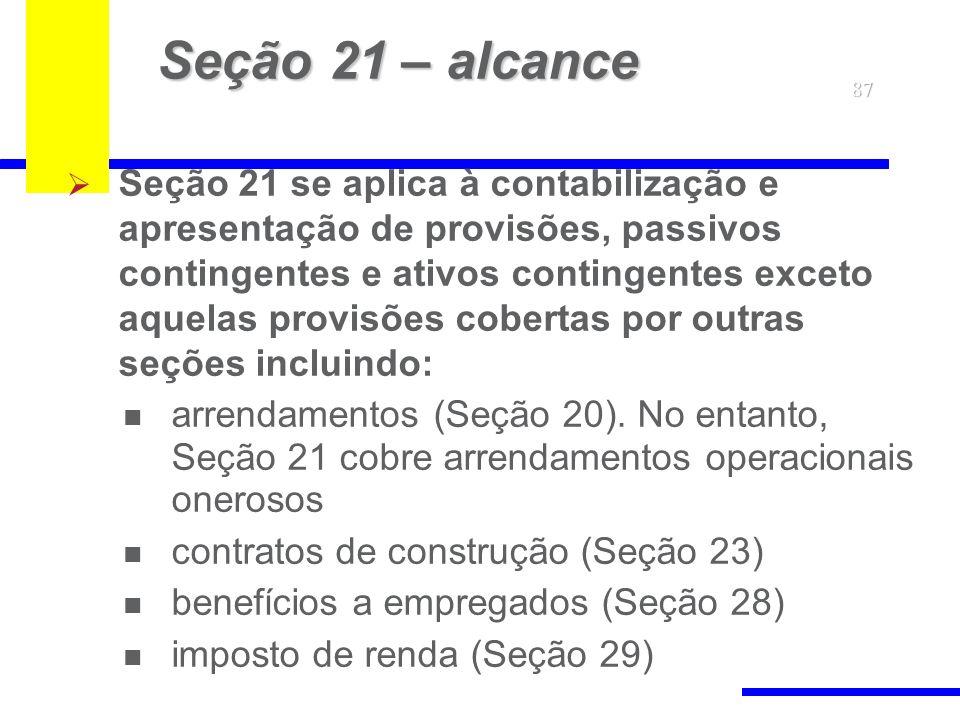 Seção 21 – alcance 87.
