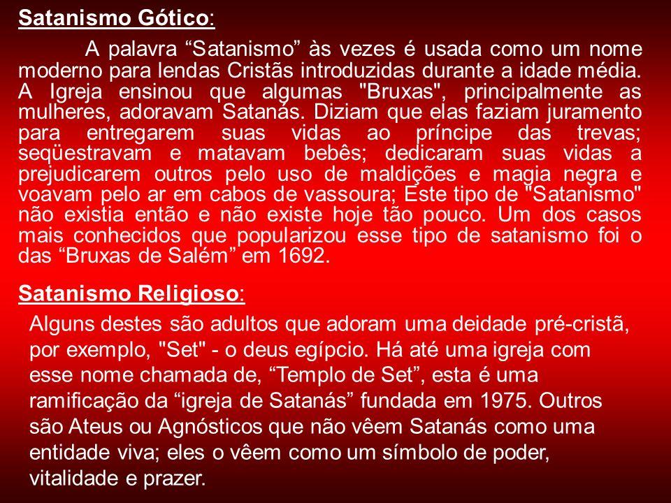 Satanismo Gótico: